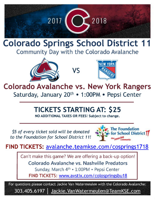 Avalanche District 11 Community Day @ Pepsi Center